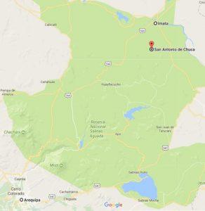 Cataratas de Pillones: Ubicación en Google Maps