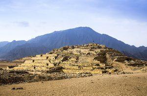 Pirámide de la galería de Caral