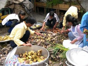 Preparación de Pachamanca