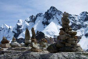 Vista del nevado Salkantay. Puedes llegar a él desde Llaqtapata