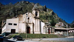 Iglesia de San Francisco en Huancavelica: aquí se realiza el encuentro de la Danza de Tijeras