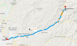 Lima a Callahuanca