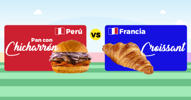 Peru vs Francia Pan con Chicharrón
