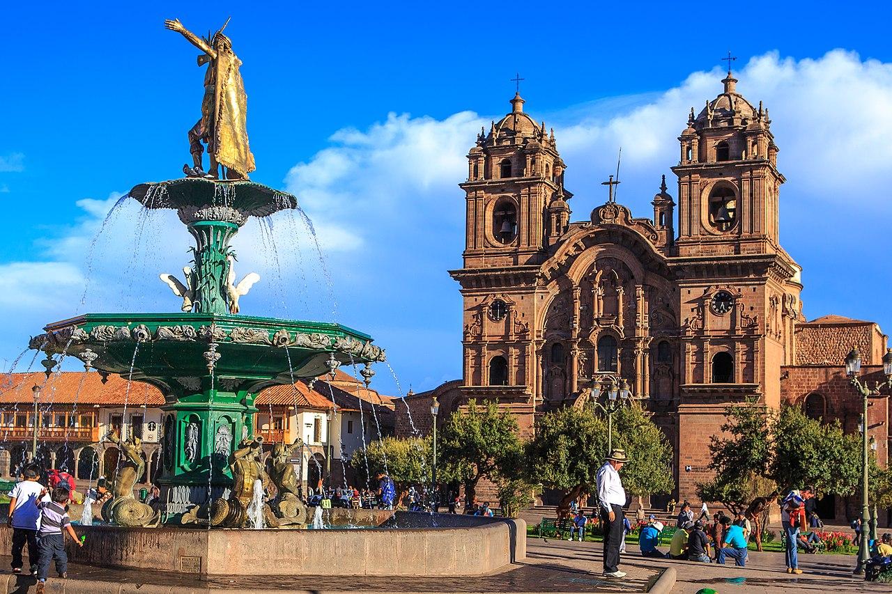 Plaza de Armas de Cusco Fiesta de la virgen del Carmen