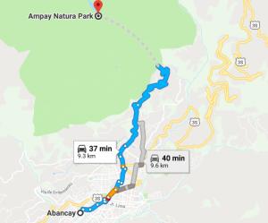 Santuario Nacional de Ampay Mapa