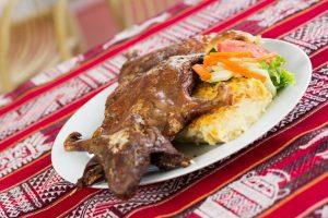 Gastronomía Peruana Cuy Chactado
