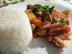 Gastronomía Peruana Lomo Saltado