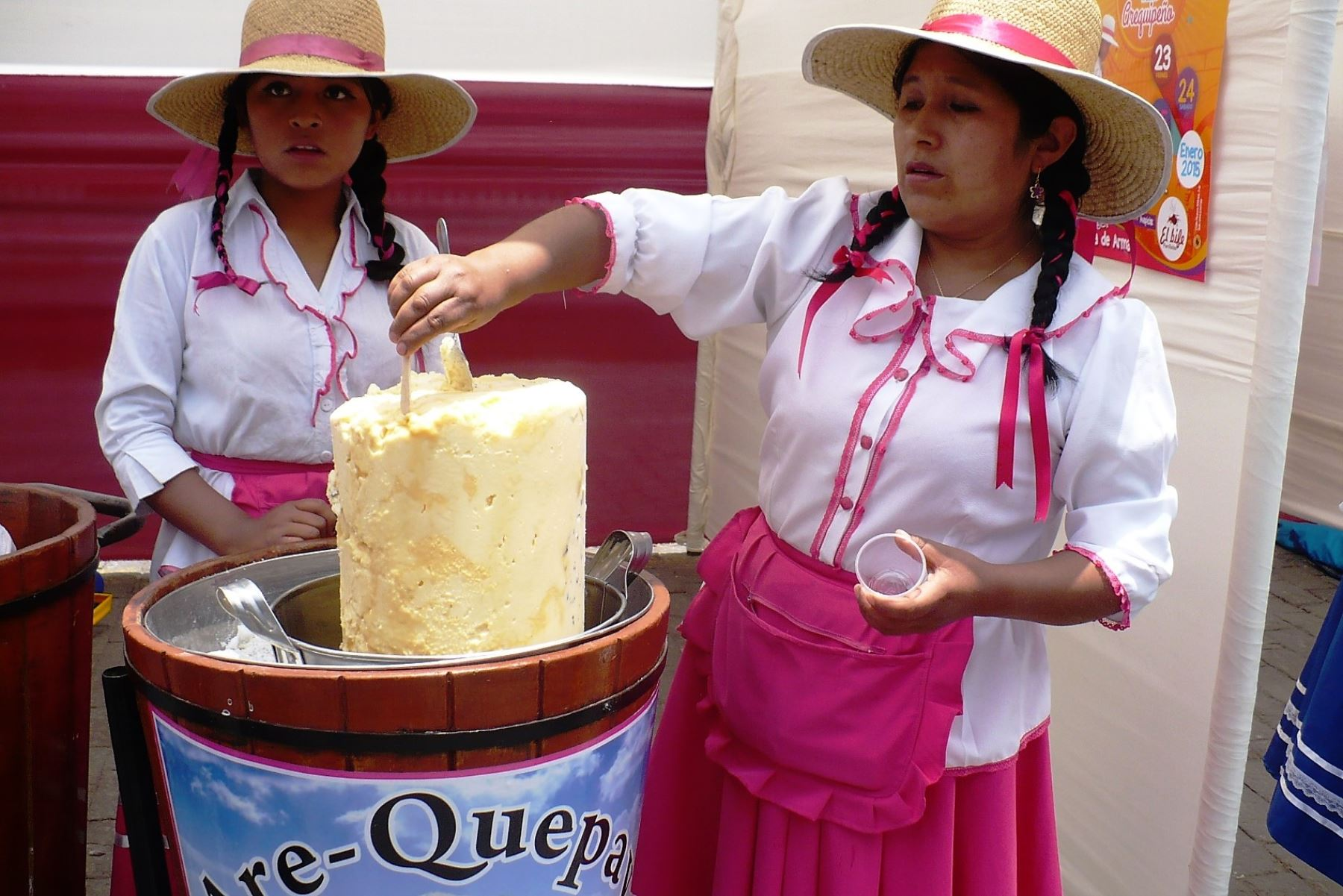 Venta de queso helado