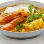 Sopas peruanas chupe de camarones