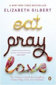 Películas para Viajar: Portada de Eat Pray and Love